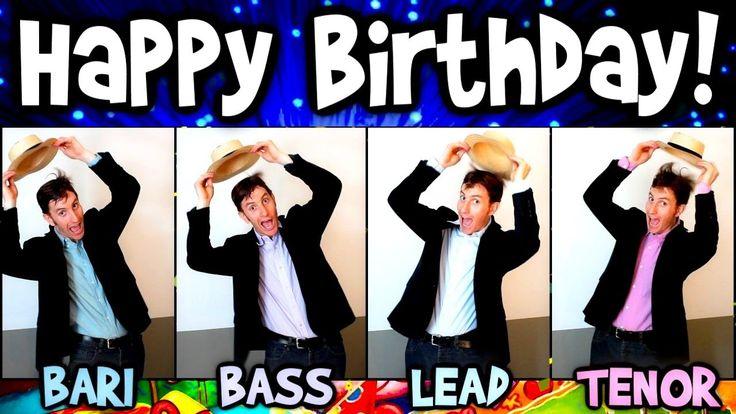 Happy Birthday song - A Cappella One Man Barbershop Quartet - Dapper Dans