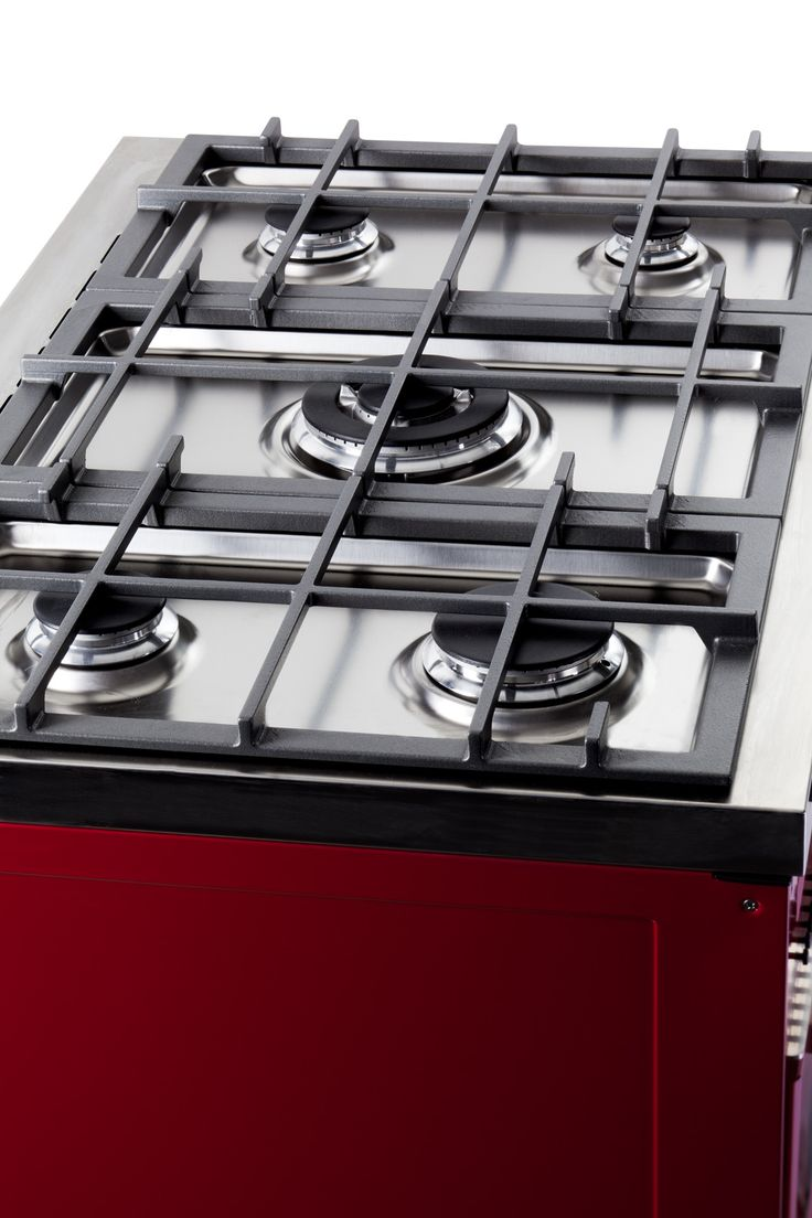 ELBA Classic Model Cookers RED - hob detail