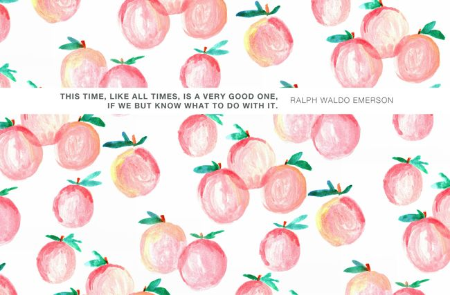 Pretty peach desktop / Computer Wallpaper background with