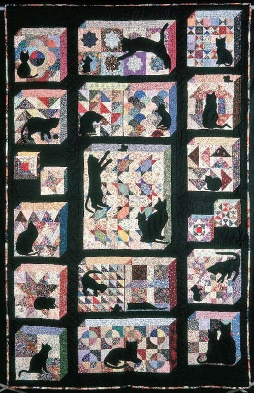 344 best animal quilts images on Pinterest | Animal quilts, Book ... : free cat quilt patterns download - Adamdwight.com