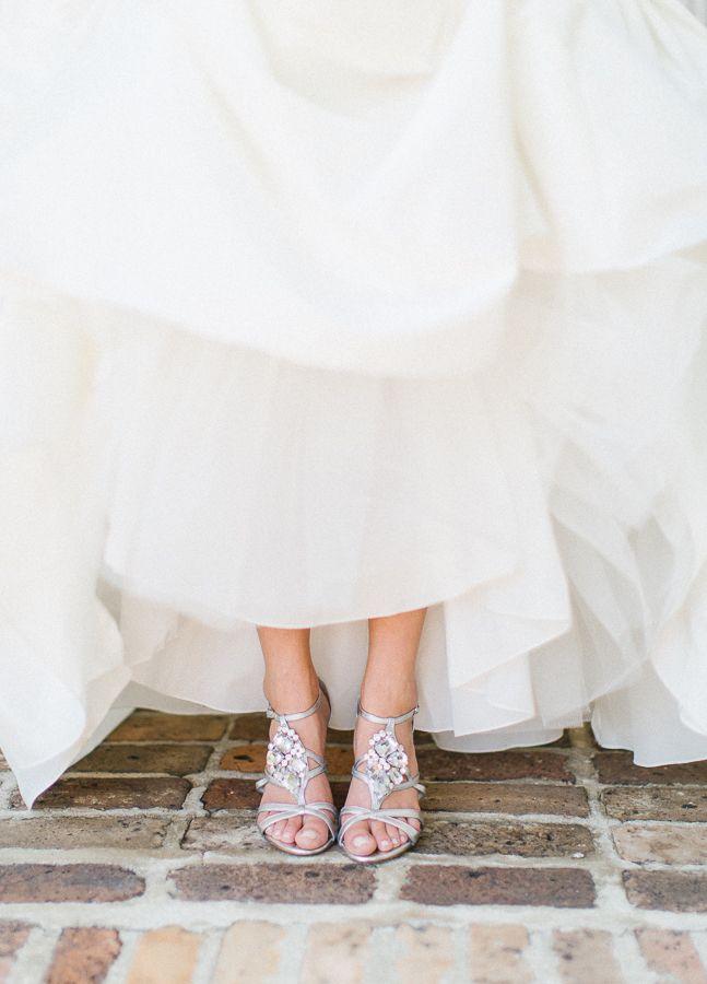 diamond wedding shoes  http://www.weddingchicks.com/2013/10/09/elegant-southern-wedding/