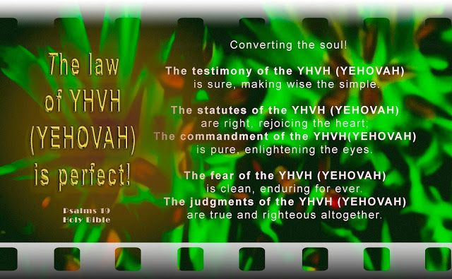 """YHVH (YEHOVAH) Padre: """"The Law of YHVH (YEHOVAH) Almighty"""""""