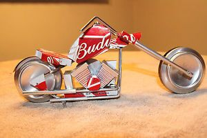 beer can craft | ... -Budweiser-Motorcycle-Aluminum-Can-Folk-Art-Chopper-Beer-Craft-Show