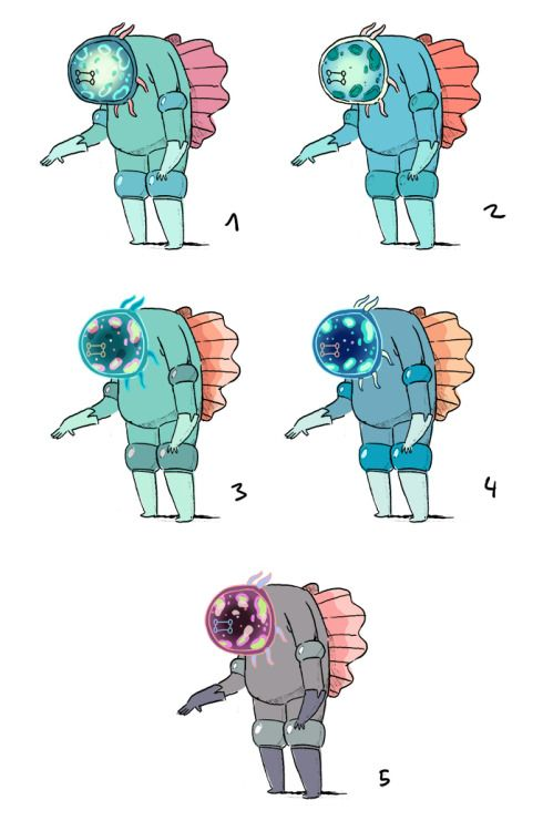 Dr. Gross color concepts by writer/storyboard artist Aleks...