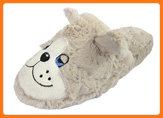 Damen-Kühler braun Warm, Hund, Flauschige Hausschuhe, Grau - grau - Größe: 42 (*Partner Link)