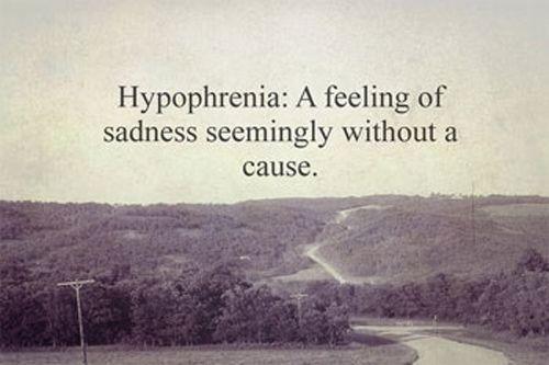 Feeling Of Sadness