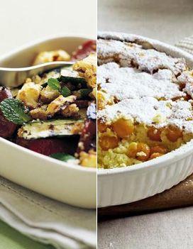 Verrine à la fraise, à la nectarine, à la chantilly et au chocolat blanc pour 4 personnes - Recettes Elle à Table