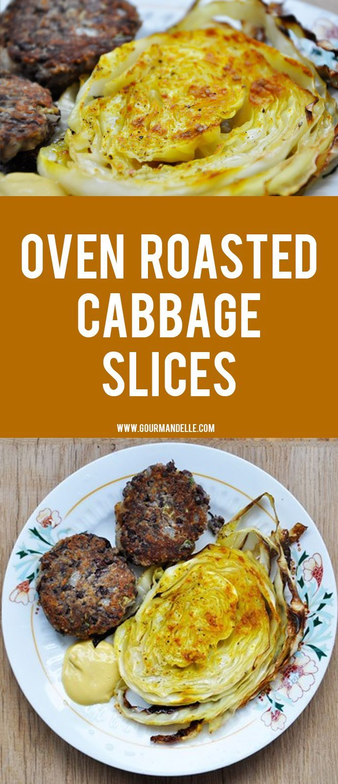 This oven roasted cabbage slices recipe is the best way to cook cabbage! Healthy, macrobiotic and vegan, what more can you wish for?! #cabbage #roasted #veganrecipes