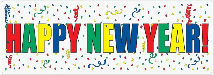 Happy New Year Sign Banner