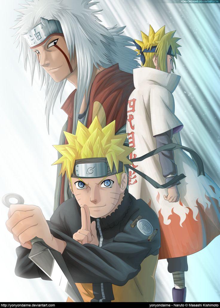 Naruto, Minato, and Jaria
