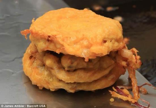 Deep Fried Cheeseburger Indoor Butterball Turkey Fryer Foods