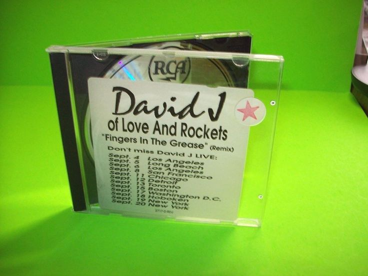 David J – Fingers In The Grease (Remix) CD Post-Punk Love And Rockets PROMO #AlternativeIndieGothicDarkwavePostRock