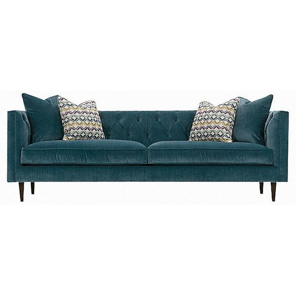 "Elle 90"" Tuxedo Sofa Mediterranean Sofas & Loveseats ($2,499) ❤ liked on Polyvore featuring home, furniture, sofas, espresso color furniture, mediterranean furniture, dark brown couch, dark brown sofa and chocolate sofa"