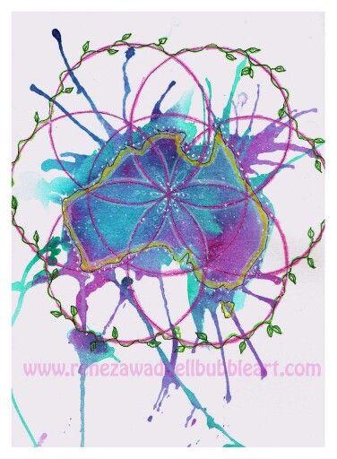 Flower of life series  Healing www.renezawaddellbubbleart.com