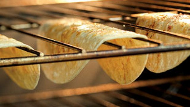 Bake Tortillas into Hard Taco Shells on Your Oven Rack
