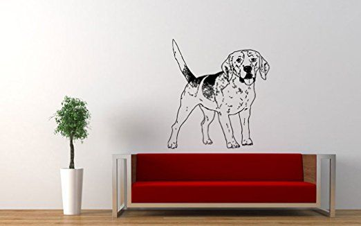 Wall Vinyl Sticker Decals Mural Room Design Dogs Animals Pet Puppy bo083