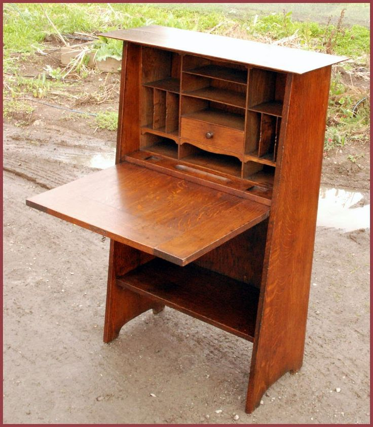 Fall Front Desk ~ Mission drop front desk plans woodworking projects