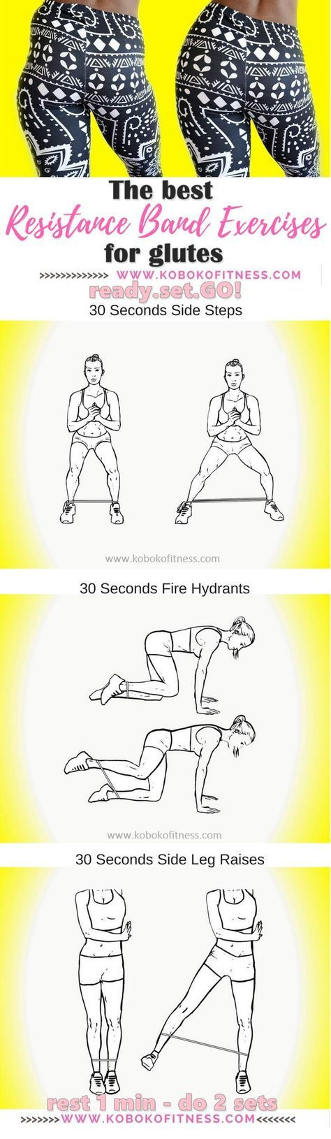 You have discovered the best resistance band exercises for glutes. Targets the hip dip area specifically to improve your butt shape and make it rounder