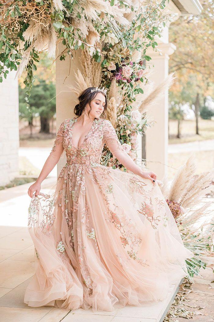 13+ Rose gold wedding dress information