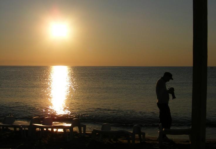 Photographer on the Beach, Man