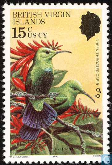 Stamps - British Virgin Islands - Birds 1982