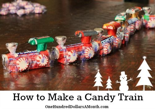 How to make a Candy Train. This would be cute for parties