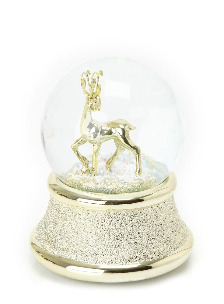 53 Snow Globes Images Pinterest Water Music Musical Reindeer Globe