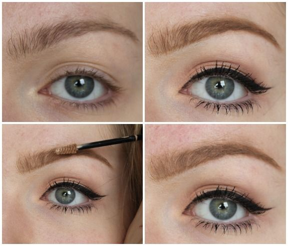 how to put on brow gel