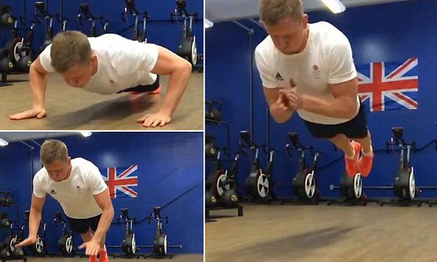 TeamGB swimmer Adam Peaty shows off his super-human strength