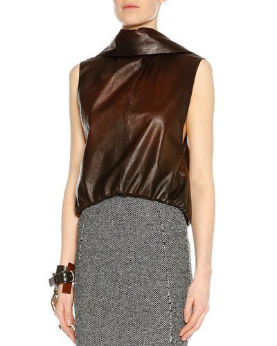 Tom+Ford+Sleeveless+Open+Back+Leather+Top+Cognac+|+Clothing