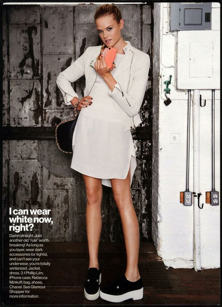 """Quick! How's My Outfit?"" Gabriella Wilde for Glamour Magazine"