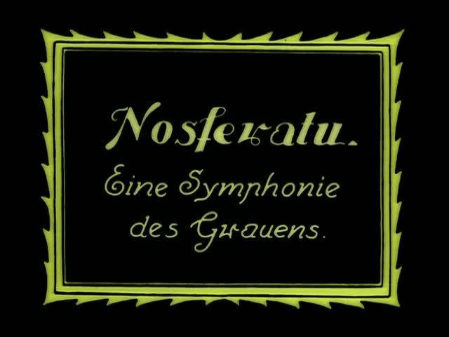 «Носферату, симфония ужаса» (Nosferatu, eine Symphonie des Grauens), Фридрих Вильгельм Мурнау, Германия, 1922