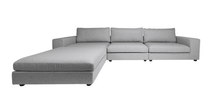 Edison Small Sectional Sofa Gray Contemporary Modern Living Room Furniture Living Room Furniture Store Grey Sectional Sofa