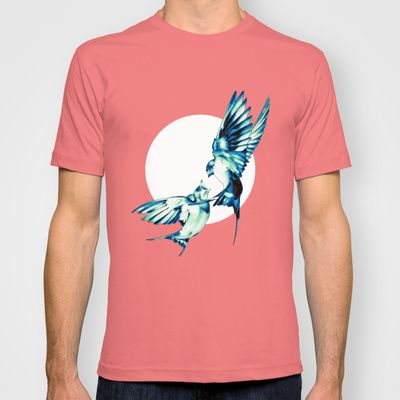 Birds T-shirt ☀ ☀ ☀    #Bird, #Vector, #Swallow, #Spring, #Nature, #Birds, #Animal, #Animals, #Illustration, #Love, #Family, #Trust, #Feed, #Food, #Hipster, #Swallows, #Care, #Fly, #Spring, #Wings, #TwoBirds, #Romantic, #Bohemian, #Fly, #Flying #FlyingBird, #FlyingBirds #Decorative #tee #tshirt #vneck #clothing #newstyle #fresh #tanktop #summer #summerware