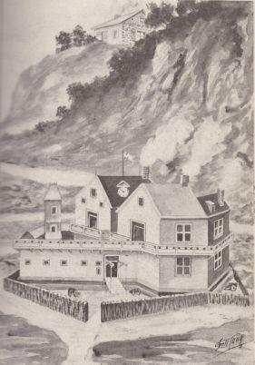 Hébert house overlooking the fort in Québec