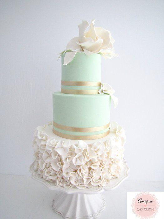 Mint Elegance Wedding Cake