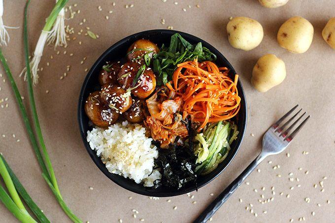 Korean Potato Bowl (Al Gamja Jorim) » I LOVE VEGAN