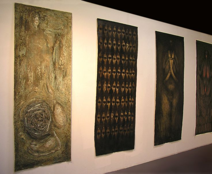 G. Dalli Cani - Fertility (body of work) 2005/06 - paintings, mixed media on canvas.