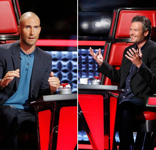 'The Voice': Blake Shelton Hilariously Mocks Adam Levine's Shaved Head