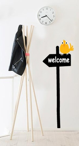 Welcome friends and family at home with a sticky & funky sign.   Dimensions:  width 60cm, maximum height 165cm
