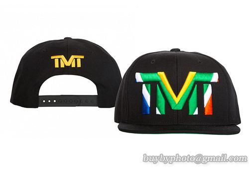 TMT Courtside Snapbacks Caps Black Multi-Color