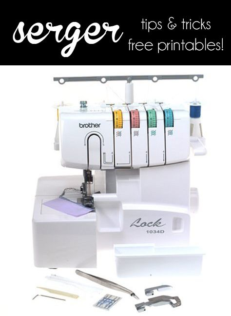 Serger Tips & Cheat Sheets