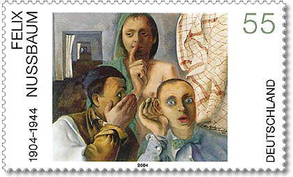 """Briefmarke Deutsche Post - Deutsche Malerei 2004- Felix Nussbaum mit """"Das Geheimnis"""".jpg"""