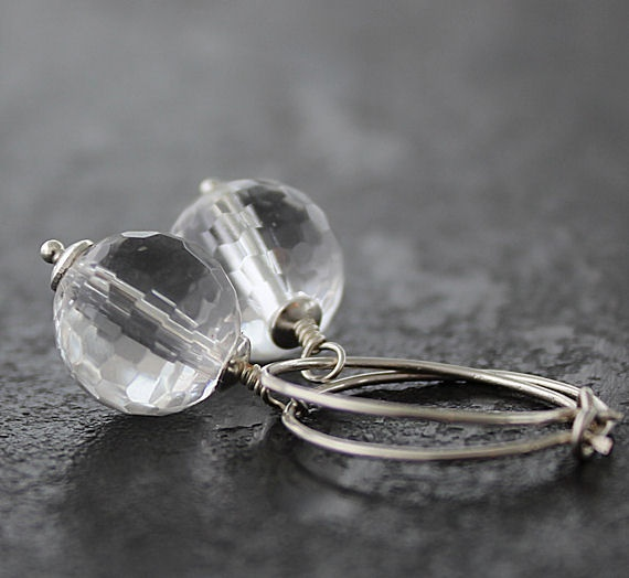 Rock Quartz and Sterling silver.