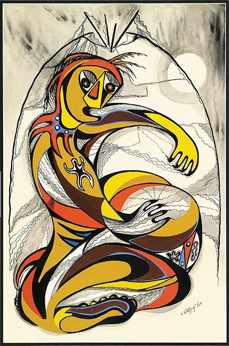 Artist Daphne Odjig, 'The Shaking Tent' (1969)