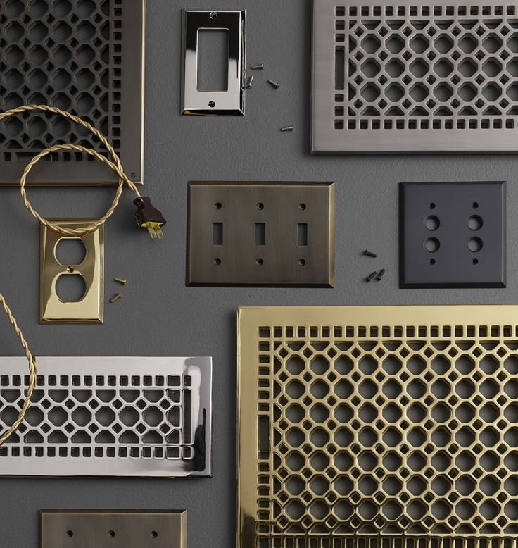 The classic single duplex outlet design has changed little in 100 years – though our forged, solid-brass coverplates are much more heavy-duty than most antique originals you'll find.