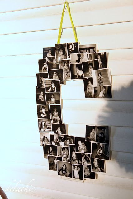 Create a collage of your favorite photos in the shape of any letter.