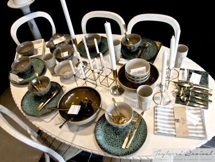 Tableware at Taylored Revival