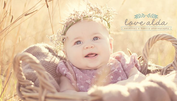 Kids Children Photography Baby in Basket Golden Hour Series 2