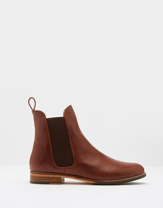 Westbourne Dark Brown Leather Chelsea Boots , Size US Adult Size 8 | Joules US